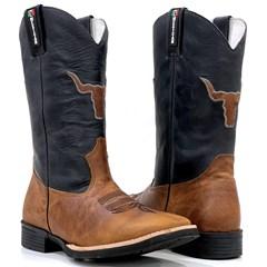 Bota Mexican Boots Fossil Mostarda/ Fossil Preto 93338