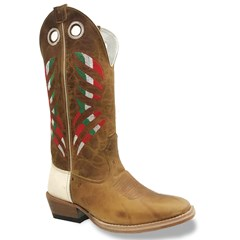 Bota Mexican Boots Fossil Mostarda/Inervo Branco Carrapeta