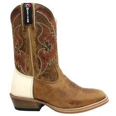 Bota Mexican Boots Fossil Mostarda/Inervo Branco Carrapeta 84503
