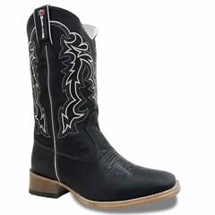 Bota Mexican Boots Fossil Preto 81248-MX
