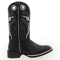 Bota Mexican Boots Fossil Preto 82000