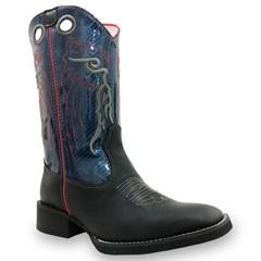 Bota Mexican Boots Fossil Preto/Azul 82009