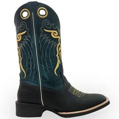 Bota Mexican Boots Fossil Preto/Fossil Azul 82007