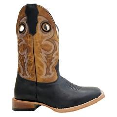 Bota Mexican Boots Fossil Preto/ Fossil Mostarda 89326