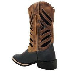 Bota Mexican Boots Fossil Preto/Fossil Mostarda/Preto 86351