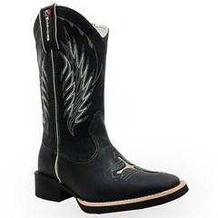 Bota Mexican Boots Fossil Preto/Fossil Preto 82006