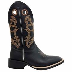 Bota Mexican Boots Fossil Preto/ Fossil Preto 83592