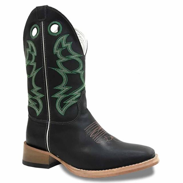 Bota Mexican Boots Fossil Preto/Fossil Preto 83593