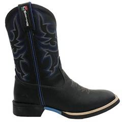 Bota Mexican Boots Fossil Preto/Fossil Preto/Azul 83155