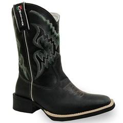 Bota Mexican Boots Fossil Preto/Preto/Verde 84495