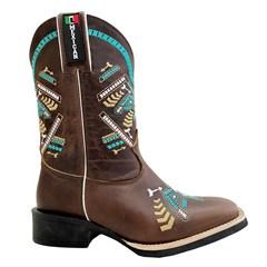 Bota Mexican Boots Fossil Tab/Fossil Tab/Turquesa