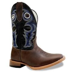Bota Mexican Boots Fossil Tab/Preto/Azul 89327