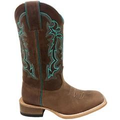 Bota Mexican Boots Fossil Tabaco/Azul Turquesa 81252-MX