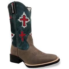 Bota Mexican Boots Mad Dog Café/Fossil Azul 86356