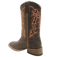 Bota Mexican Boots Mad Dog Café/Laranja Neon 81249-MX