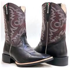 Bota Mexican Boots Preto/Café 91198