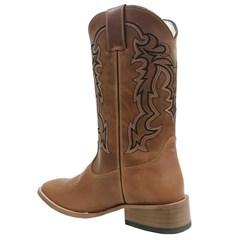 Bota Mexican Boots Pull Up Amêndoa/Preto 81251-MX