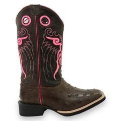 Bota Mexican Boots Réplica Avestruz Café/ Fossil Café 82002