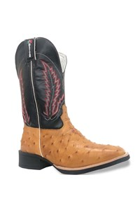 Bota Mexican Boots Réplica Avestruz Conhaque/ Preto 87203-MX