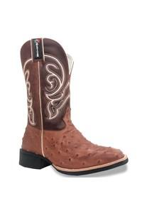 Bota Mexican Boots Réplica Avestruz Pinhão/ Fossil Sella  87198-MX