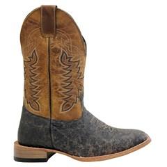 Bota Mr. West Boots Avestruz (Barriga) Tab Craquele/Fossil Mostarda 89592