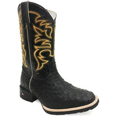 Bota Mr. West Boots Avestruz Preto/ Preto 81561