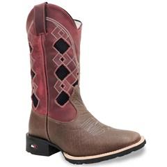 Bota Mr. West Boots Cabeça Café/Fossil Vermelho/Preto 86342
