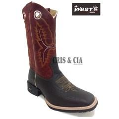 Bota Mr. West Boots Cabeça Tabaco/ Vermelho B-N 07