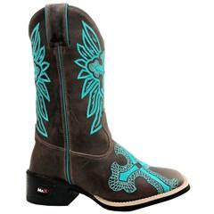Bota Mr. West Boots Crazy Horse Café/ Azul Turquesa 84933