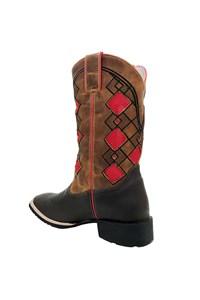 Bota Mr. West Boots Crazy Horse Café/Fossil Mostarda/Vermelho 86343