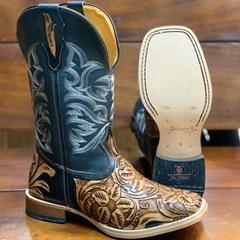Bota Mr. West Boots Entalhada Fossil Preto 88189