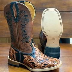 Bota Mr. West Boots Entalhada Fossil Sella 88186