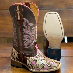 Bota Mr. West Boots Entalhada Fossil Tab/Rosa 88185