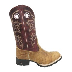 Bota Mr. West Boots Escamada Fossil Mostarda/Fossil Vermelho 69292 B-06
