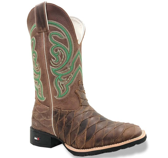 Bota Mr. West Boots Escamada Fossil Tab/ Fossil Tab/ Verde 87192