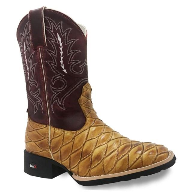 Bota Mr. West Boots Escamada Queimada/Fossil Vermelho 82559