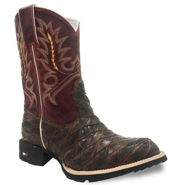 Bota Mr. West Boots Escamada Tab/Fossil Vermelho 82558