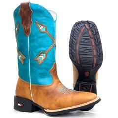 Bota Mr. West Boots Fossil Mostarda/ Malb Turquesa 93010
