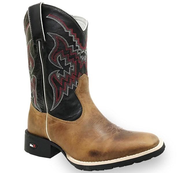 Bota Mr.West Boots Fossil Mostarda/ Preto 84576