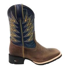 Bota Mr. West Boots Fossil Tabaco/Azul Marinho 81403