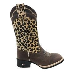 Bota Mr. West Boots Fossil Tabaco/Onça 69367 B-36