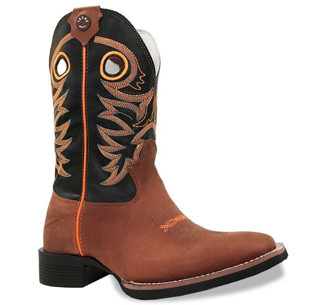 Bota Texas Boots Jatoba/Preto/Laranja 16211029-LQBO