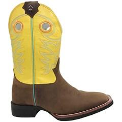 Bota Texas Boots Moca/Amarelo 14111019-LQBO