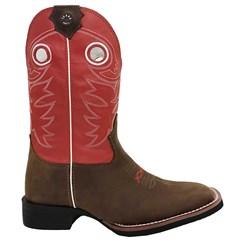 Bota Texas Boots Moca/Vermelho 14131021-LQBO