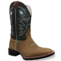 Bota Texas Boots Peroba/Marrom/Verde Àgua 18191057 LQBO