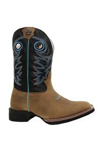 Bota Texas Boots Peroba/Preto/Turquesa 18211035-LQBO