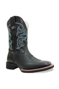 Bota Texas Boots Preto/Preto/Turquesa 20211251-LQBO