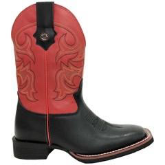 Bota Texas Boots Preto/Vermelho 20131223