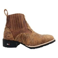 Botina Mr. West Boots Escamada Fossil Mostarda 87669