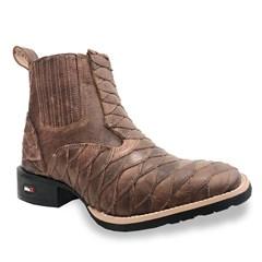 Botina Mr. West Boots Escamada Fossil Tab 87670